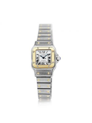 Cartier Santos Ladies 18ct yellow gold & steel watch