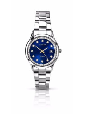 Sekonda Ladies Silver and Blue Faced Watch