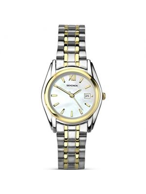 Sekonda Ladies two tone watch with mother of pearl dial