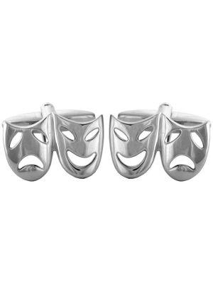 Stainless Steel Drama Mask Cufflinks