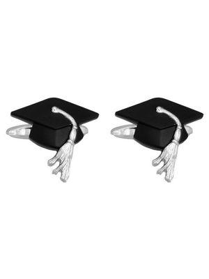 Stainless Steel Graduation Cap Cufflinks