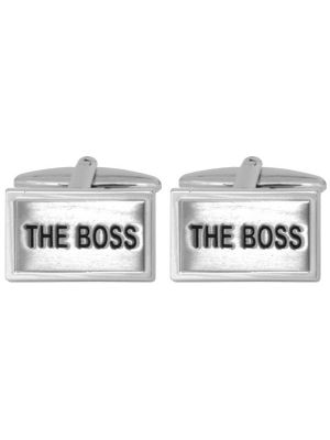 Stainless Steel 'The Boss' Cuff Links