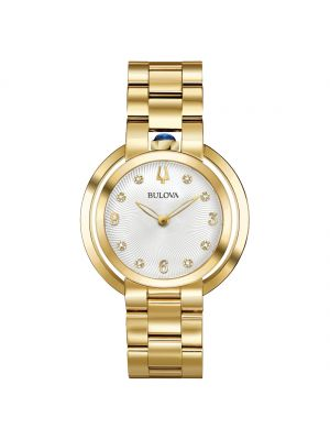 Ladies yellow gold microplated Ribaiyat Bulova watch