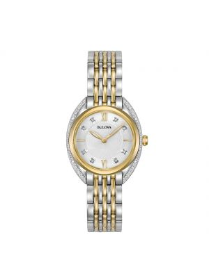 Ladies Two Tone Bulova Diamond Curv Watch