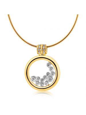 18ct yellow gold twelve stone round brilliant diamond necklet