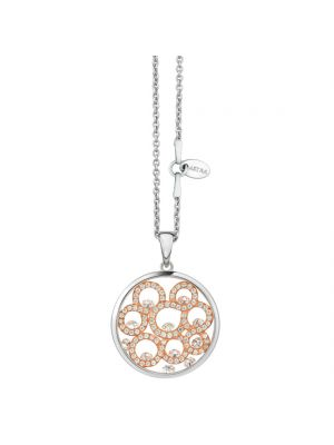 Astra Sterling silver and rosegold plate cz pendant and chain