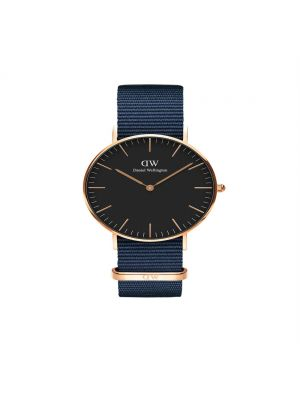 Daniel Wellington Classic 40mm Bayswater rosegold case and black dial and midnight blue nato strap
