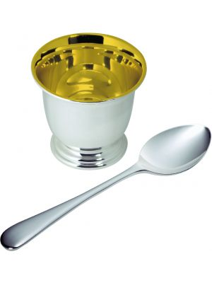 Carrs Silver plate egg cup & spoon set