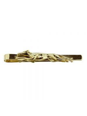 9ct yellow gold greyhound tie bar