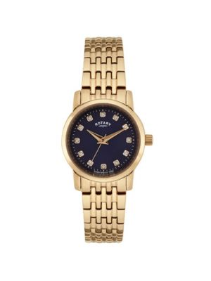 Ladies Rose plate stone set dress watch