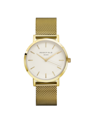 Rosefield Mercer yellow plated watch 38mm