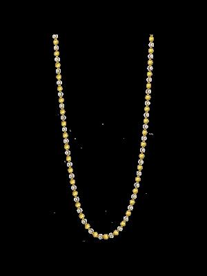Alegre 925 Silver Gold Plated 80cm Chain