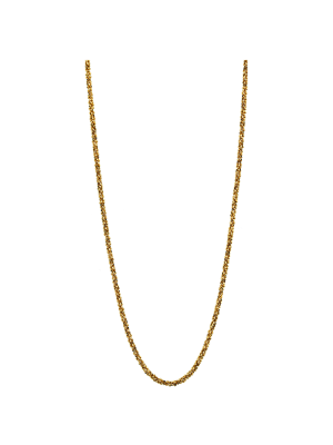Destello 925 Silver Gold Plated Chain