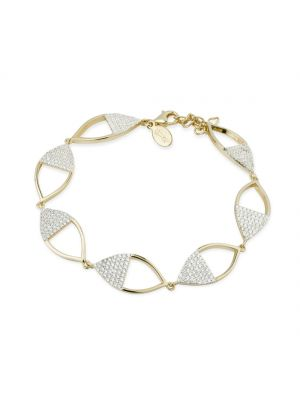 Paul Costelloe Sterling silver bracelet crystal half set yellow marquise bracelet