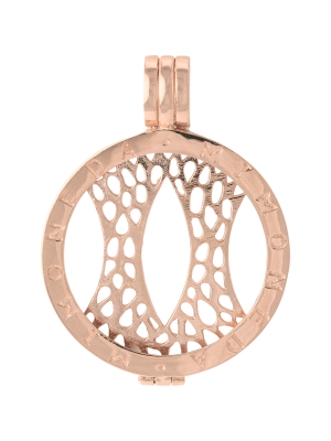 925 Silver Rose Gold Plated Medium Pendant