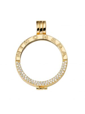 Deluxe 925 Silver Yellow Gold Plated Large Pendant