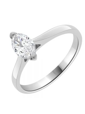 18ct White Gold Single Stone Marquise Diamond Ring