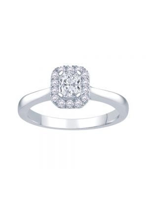 18ct White Gold Radiant Cut Engagement Ring