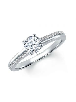 18ct White Gold 81 Facets Solitaire Ring