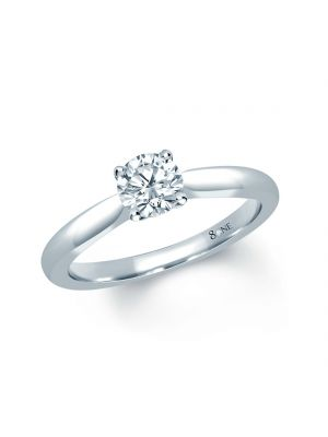 18ct White Gold Single Stone Solitaire Engagement Ring
