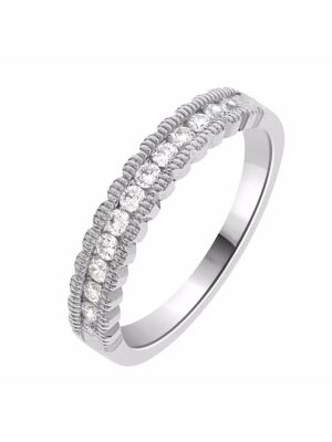 18ct White Gold Channel Set Ladies Wedding Band
