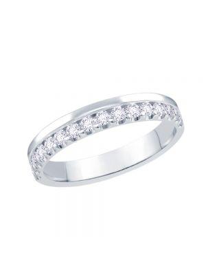 18ct White Gold Versatile Diamond Set Ladies Wedding Band