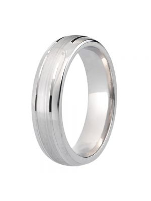 9ct White Gold Gents' Wedding Ring