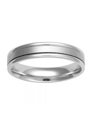 9ct White Gold Comfort Fit Wedding Band