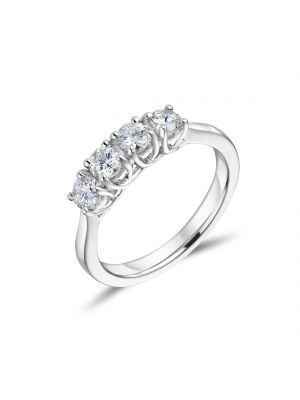 Platinum 4 Stone Diamond Ring