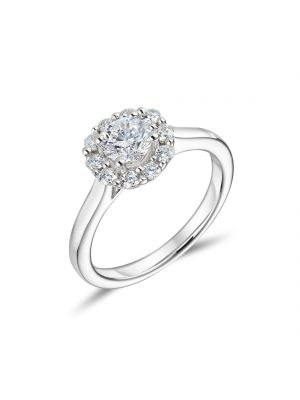 18ct Round Brilliant Cut Diamond Engagement Ring