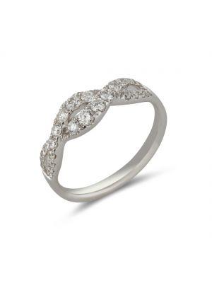 18ct white gold two row diamond eternity ring