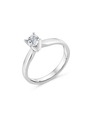 18ct White Gold Solitaire Diamond Engagement Ring