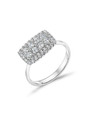 18ct white gold cluster style diamond engagement ring