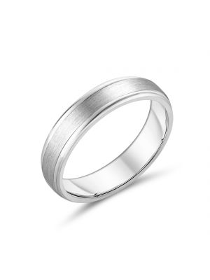 Sterling Silver Classic Gents Wedding Band