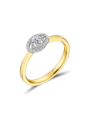 18ct Round Brilliant Halo Engagement Ring