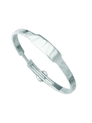 Sterling Silver Baby Bangle with spirals down each side by JT designs