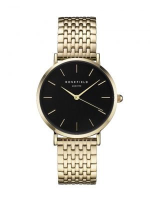 Rosefield Upper East Side gold & black watch 33mm