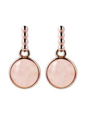 Bronzallure Pomifera drop earrings with rose quartz earrings