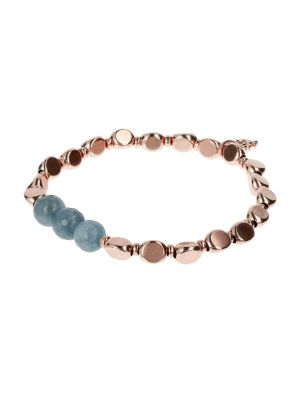 Bronzallure Stretchable Nugget and Milky Aquamarine bracelet