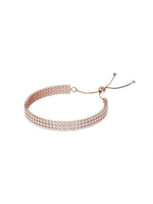 Bronzallure Three Row CZ Bracelet