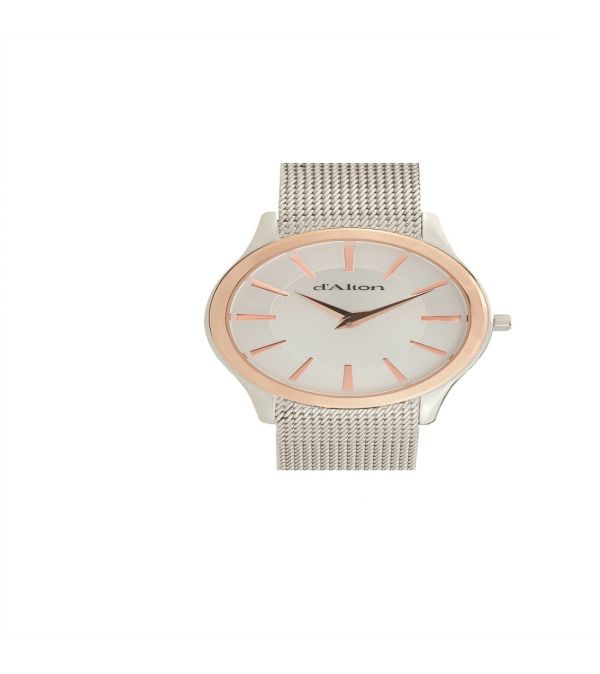 D'Alton Gents two tone mesh bracelet watch
