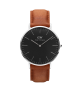 Daniel Wellington Classic Black Durham  silver watch 40mm