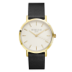 Gramercy Black leather strap with gold dial watch